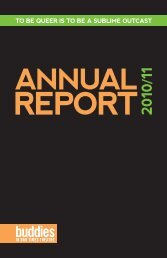 Annual Report for 2010/11 - Buddies in Bad Times Theatre