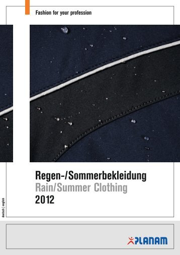 Regen-/Sommerbekleidung Rain/Summer Clothing 2012 - D-Inter