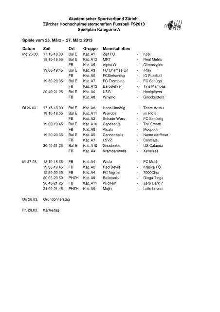 PDF-Spielplan Kategorie A - ASVZ