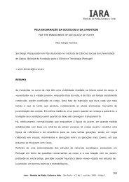 164 PELA ENCARNAÇÃO DA SOCIOLOGIA DA JUVENTUDE FOR ...
