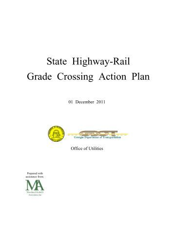 State Highway-Rail Grade Crossing Action Plan - Governor's Office ...