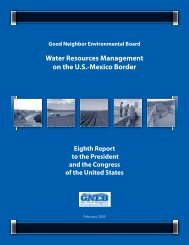 Water Resources Management on the U.S.-Mexico Border