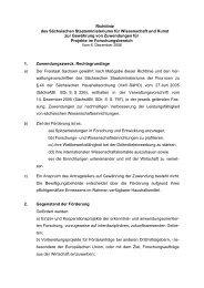 Richtlinie des Sächsischen Staatsministeriums für Wissenschaft und ...