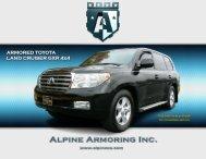 Alpine's armored Toyota Land Cruiser GXR Diesel - Alpine Armoring ...