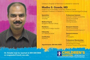 Madhu S. Gowda, MD - Virginia Commonwealth University Health ...