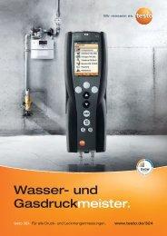 Produktbroschüre testo 324 testo 324. Für alle Druck - Testo AG