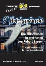 Gazette Herbst 2003 Internet - Freie Bühne Uster