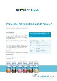Klikk her for produktfaktablad - nestle nutrition