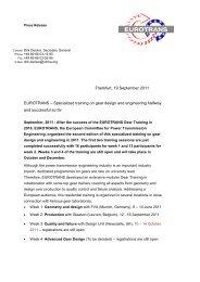 Frankfurt, 19 September 2011 EUROTRANS – Specialized training ...