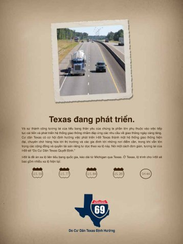 Texas đang phát triển.