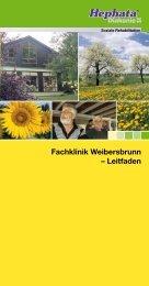 Fachklinik Weibersbrunn – Leitfaden