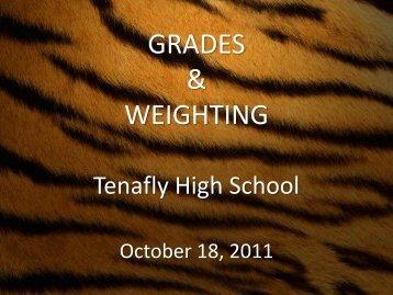 GRADES & WEIGHTING - Tenafly High School