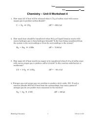 Unit 3 Worksheet 4 – Quantitative Energy Problems