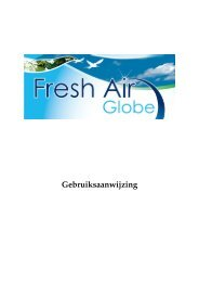 Fresh Air Globe Gebruiksaanwijzing (Nederlands) - Tel Sell