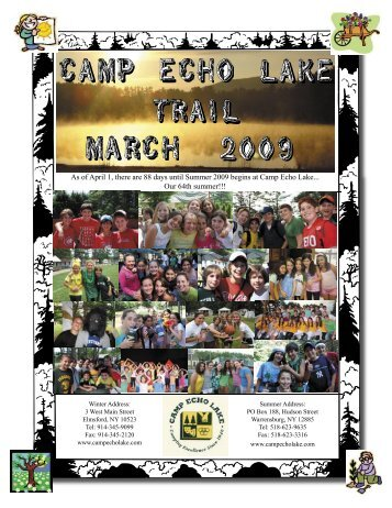 March 2009.indd - Camp Echo Lake