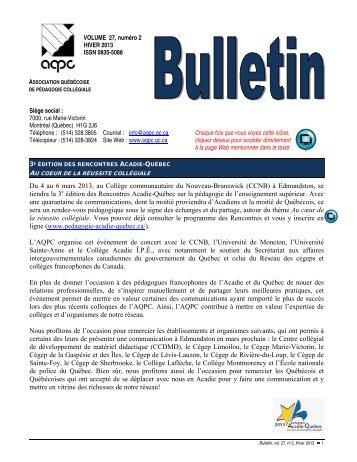 hiver 2013 - AQPC