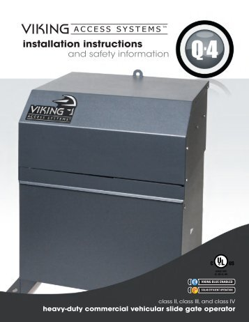 Q-4™ Installation Manual - Viking Access