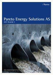 Pareto Energy Solutions AS - Pareto Project Finance