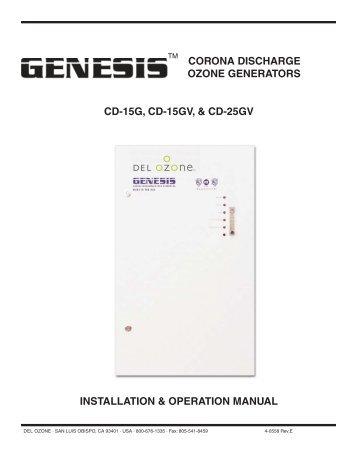 CORONA DISCHARGE OZONE GENERATORS CD ... - DEL Ozone