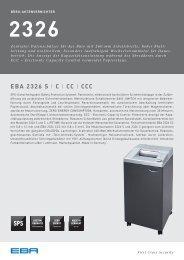 Büro-Aktenvrnichter EBA 2326 - Datenblatt