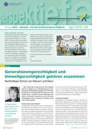 Perspektiefe 2012 28 - Zentrum Gesellschaftliche Verantwortung der ...