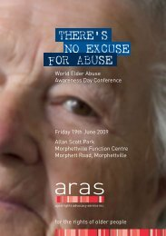 there's no excuse for abuse - Aged & Community Services SA & NT
