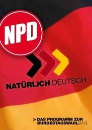 NPD wahlprogramm 2013
