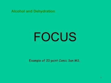 Alcohol and Dehydration - Frostburg - Frostburg State University