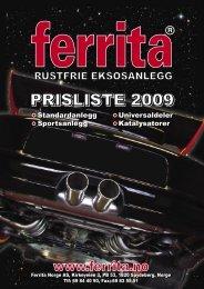 PRISLISTA Norge 2009.indd