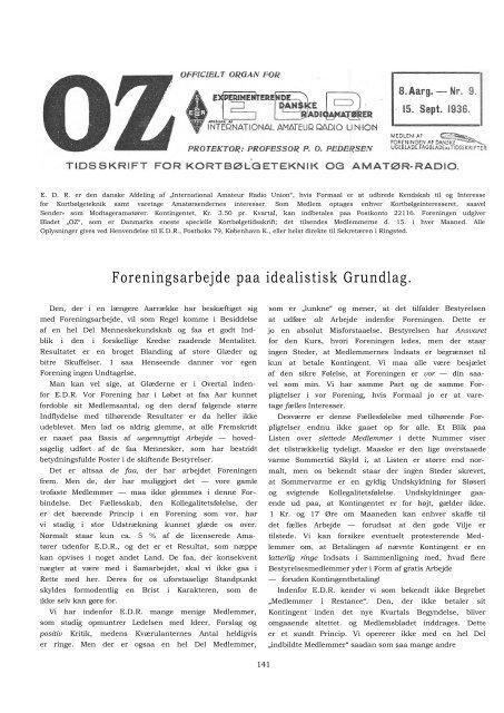 Foreningsarbejde paa idealistisk Grundlag. - Søg i OZ