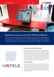 Haefele rises up into cloud with TCPOS and Maxess