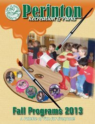 Fall Recreation and Parks Programs - Perinton Town Government