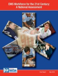 EMS Workforce for the 21st Century: A National Assessment