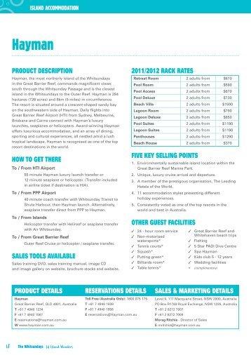 Download the Hayman factsheet - Whitsundays