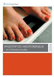 Rygestop og vægtforøgelse - et litteraturstudie - Sundhedsstyrelsen
