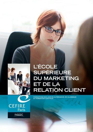 L'ÉCOLE SUPÉRIEURE DU MARKETING ET DE LA ... - L'Etudiant