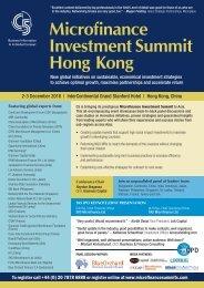 Microfinance Investment Summit Hong Kong - C5