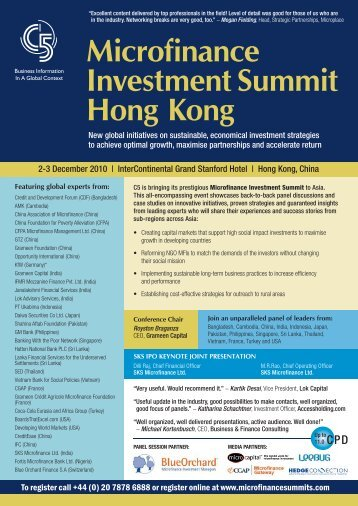 Microfinance Investment Summit Hong Kong - C5