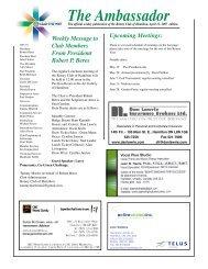 April 12, 2007 - Rotary Club of Hamilton