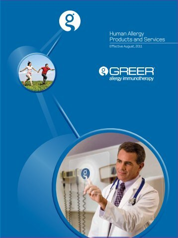Human Allergy Products and Services - Greer