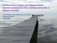 Jenny Shaw and Leonie Noble - GENDER IN AQUACULTURE AND ...