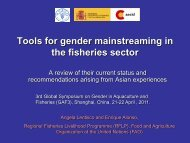 Angela Lentisco - GENDER IN AQUACULTURE AND FISHERIES