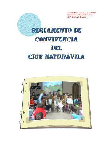 Reglamento de Convivencia del CRIE Naturávila