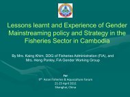 Heng Ponley - GENDER IN AQUACULTURE AND FISHERIES