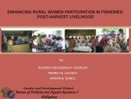 ENHANCING RURAL WOMEN PARTICIPATION IN FISHERIES ...