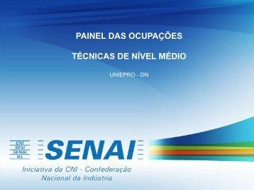 PAINEL DAS OCUPAÇÕES TÉCNICAS DE NÍVEL MÉDIO - SENAI-MT