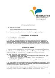 9 1 Name, Sitz, Rechtsform - Klimaschutzagentur Weserbergland