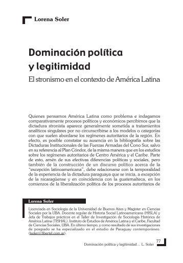 Dominación política y legitimidad - Grupo de Estudios Sociales ...