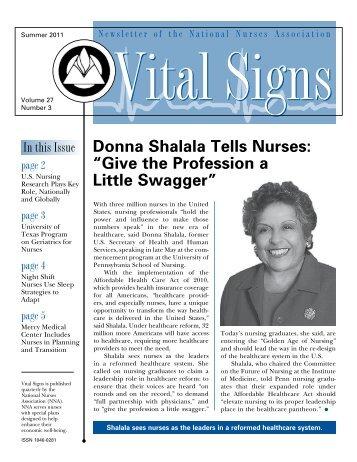 Summer issue of Vital Signs - UCLA School of Nursing