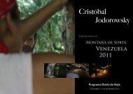 folleto sobre los viajes de 2011 - Psicomagia.es